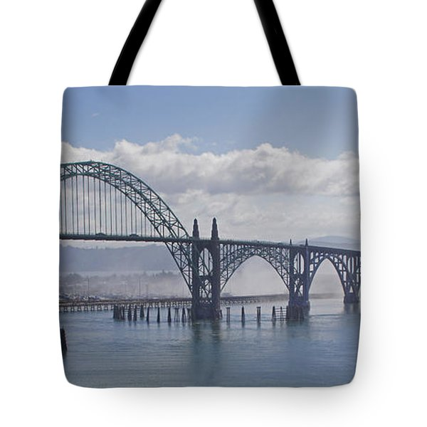 Into The Fog At Newport Tote Bag