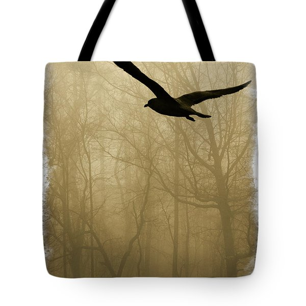 Tote Bag featuring the photograph Into The Fog by Harry Spitz