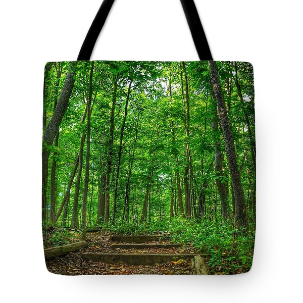 Tote Bag featuring the photograph Into The Forest by Nikki McInnes