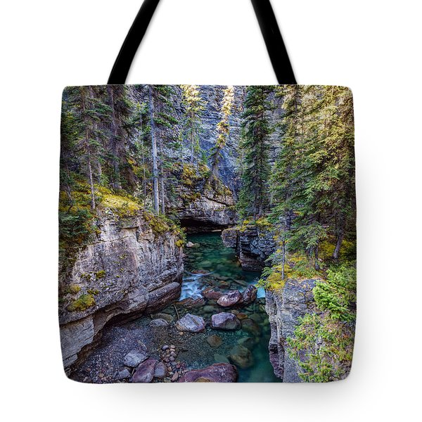 Into The Heart Of Maligne Canyon Tote Bag