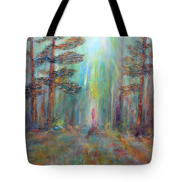 Into The Light Tote Bag by Claire Bull