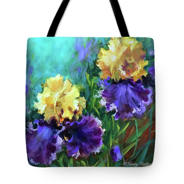 Into The Light Iris Garden Tote Bag