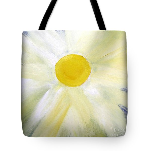 Tote Bag featuring the painting Into The Light by Karen Nicholson