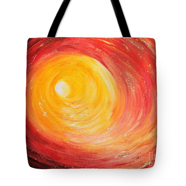Into The Light Tote Bag by Teresa Wegrzyn
