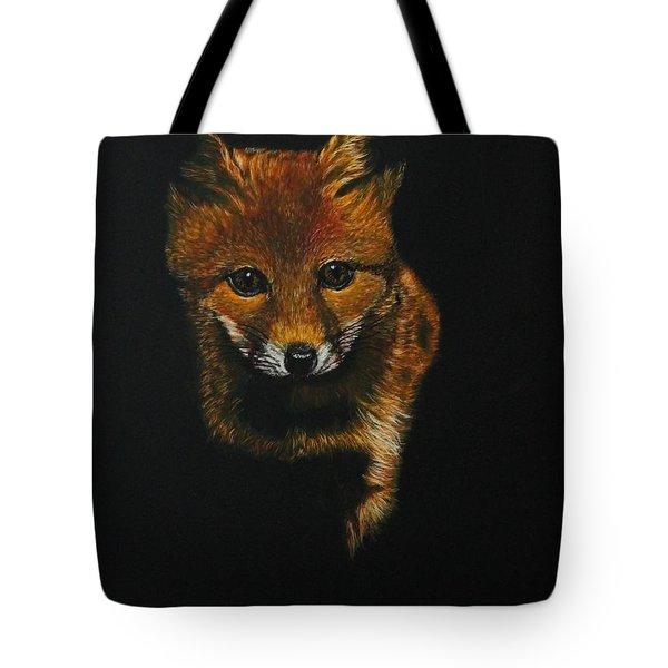 Into The Light......fox Kit Tote Bag