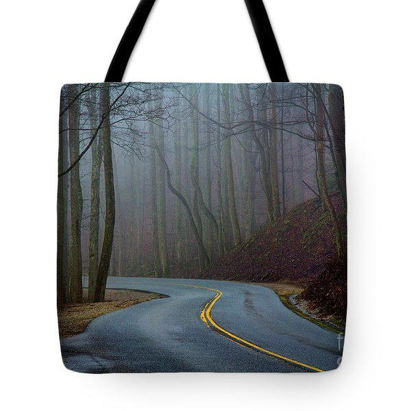 Tote Bag featuring the photograph Into The Mist by Douglas Stucky