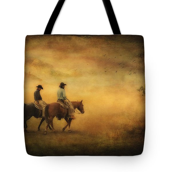 Into The Mist Tote Bag by Priscilla Burgers