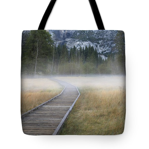 Tote Bag featuring the photograph Into The Mist by Sandra Bronstein