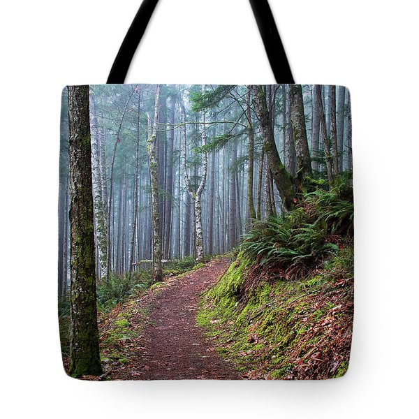Into The Misty Forest Tote Bag