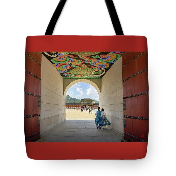 Tote Bag featuring the photograph Into The Palace by Geoffrey C Lewis