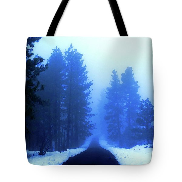 Tote Bag featuring the photograph Into The Snowy Woods by Ben Upham III