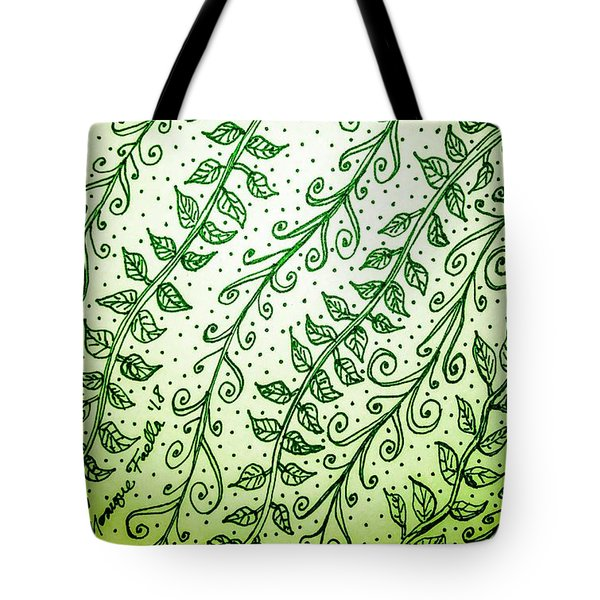 Into The Thick Of It, Green Tote Bag