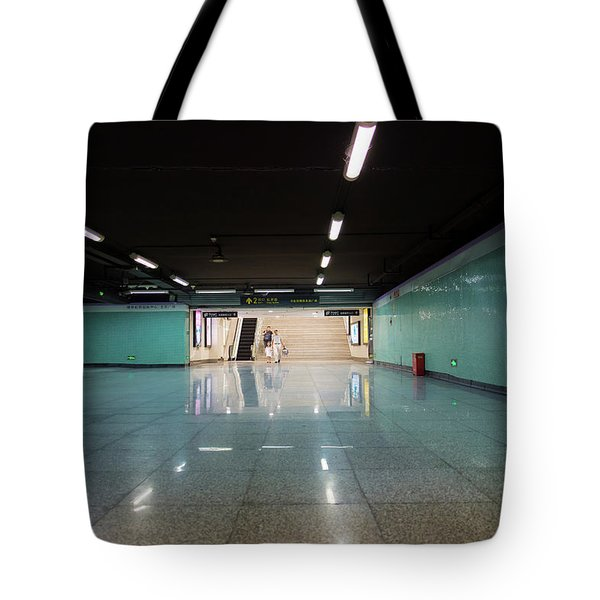 Tote Bag featuring the photograph Into The Tunnel by Geoffrey C Lewis