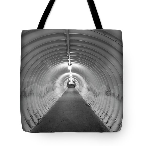Tote Bag featuring the photograph Into The Tunnel by Juli Scalzi