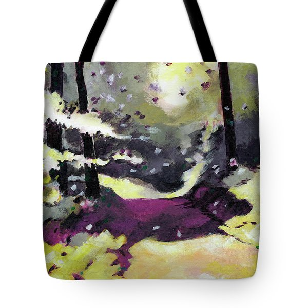 Tote Bag featuring the painting Into The Woods 2 by Anil Nene