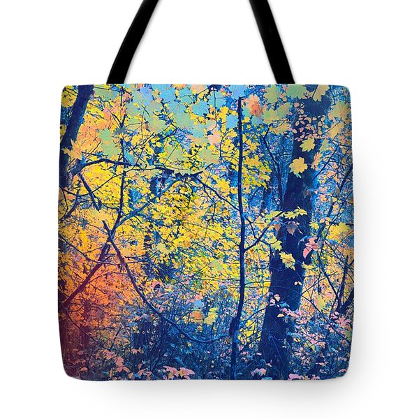 Into The Woods Tote Bag by Bonnie Bruno