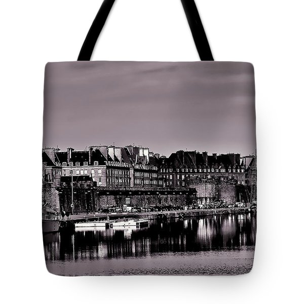 Tote Bag featuring the photograph Intra Muros At Night by Elf Evans
