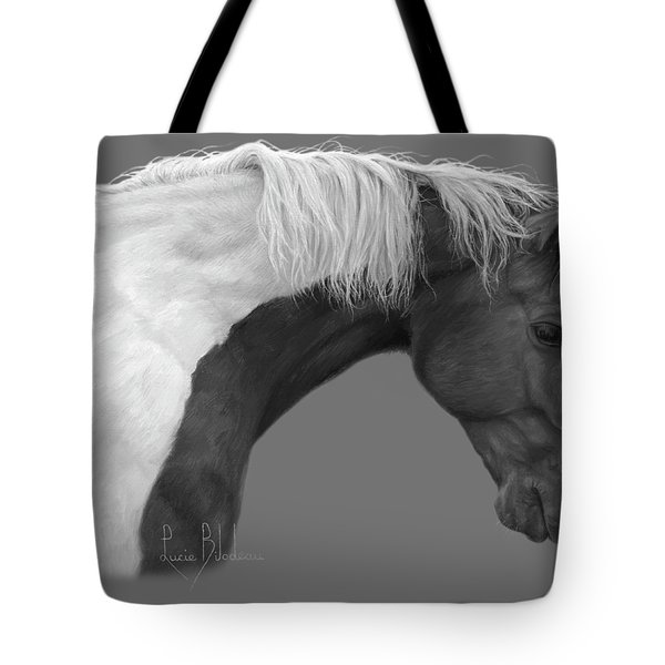 Intrigued - Black And White Tote Bag