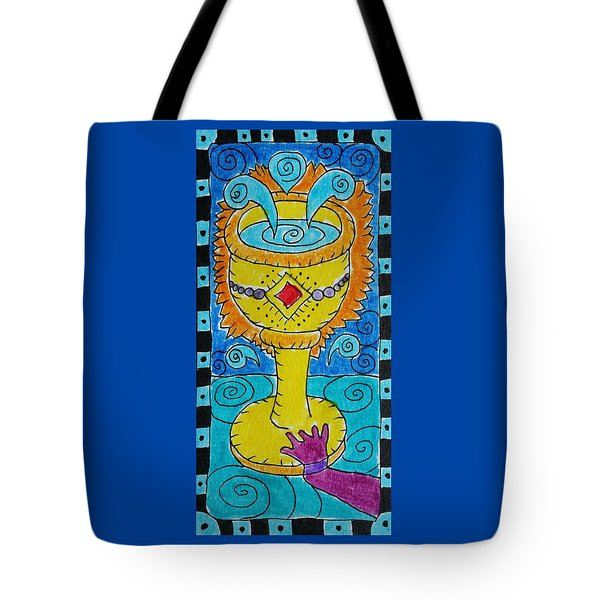 Intuitive Catalyst Card - Ace Of Cups Tote Bag