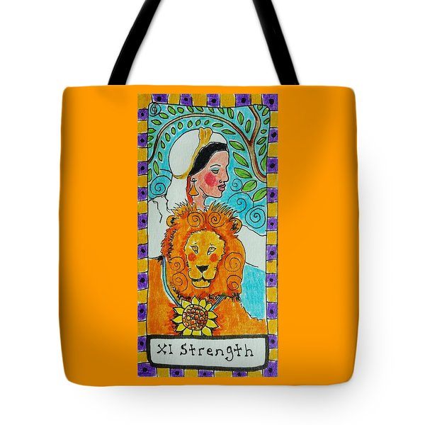 Intuitive Catalyst Card - Strength Tote Bag