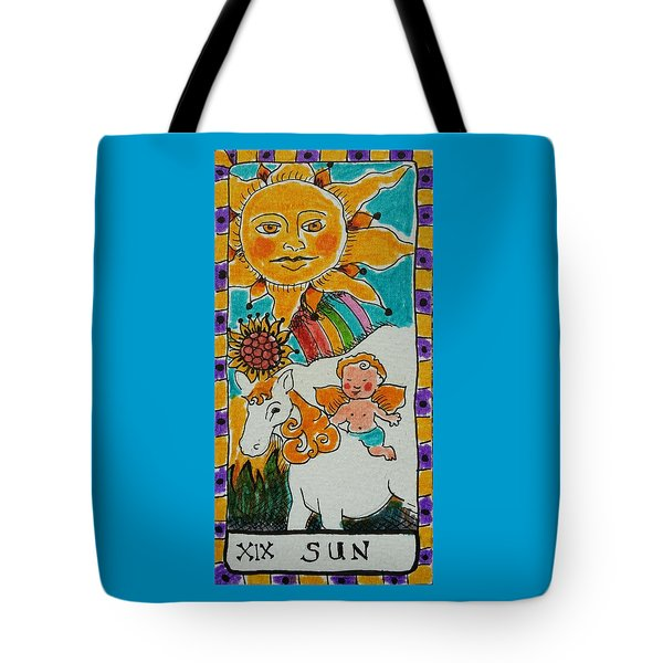 Intuitive Catalyst Card - Sun Tote Bag