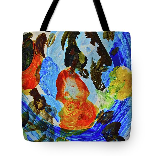 Tote Bag featuring the painting Intuitive Painting  215 by Joan Reese