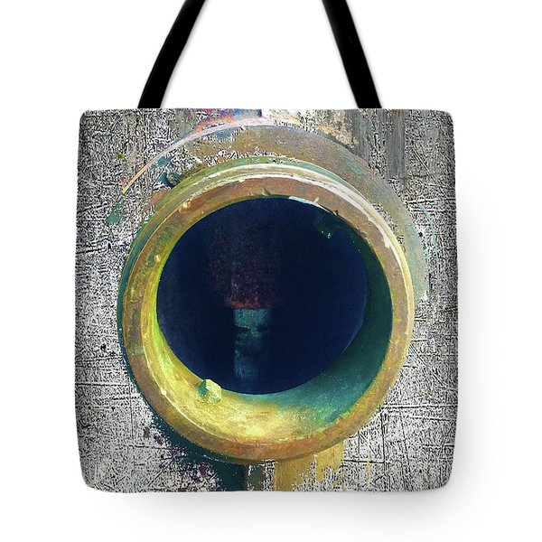 Tote Bag featuring the mixed media Inturupted by Tony Rubino