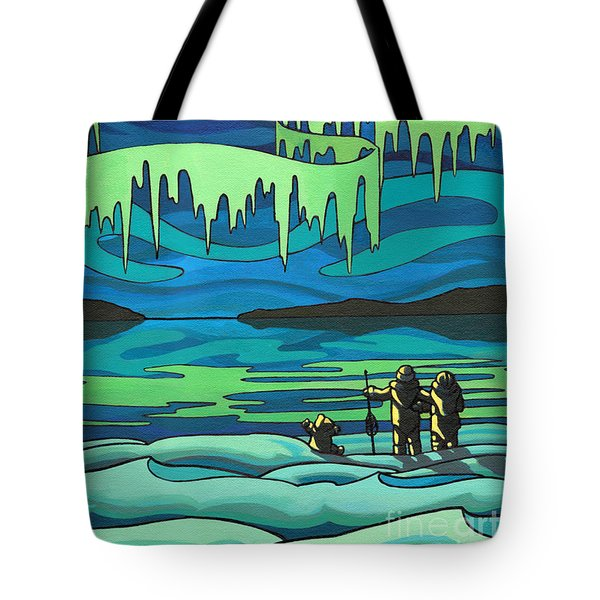 Inuit Love Arctic Landscape Painting Tote Bag by Kim Hunter