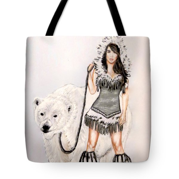 Inuit Pin-up Girl Tote Bag