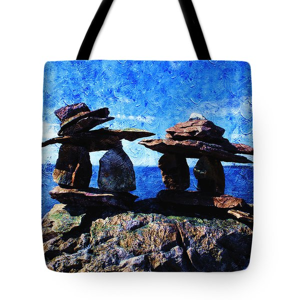 Inukshuk Tote Bag by Zinvolle Art