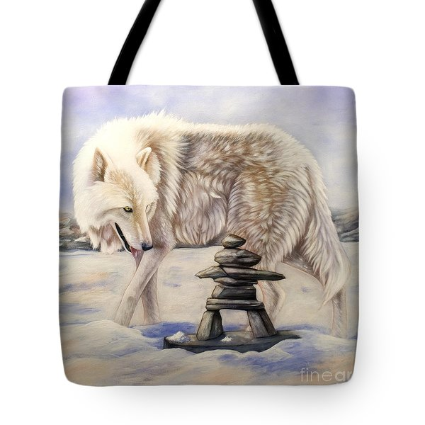 Inuksuk Tote Bag by Sandi Baker