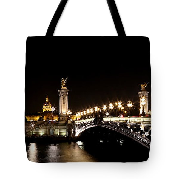 Tote Bag featuring the photograph Invalides At Night 1 by Andrew Fare