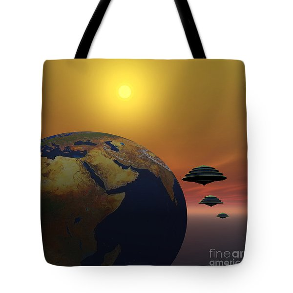 Invasion Tote Bag by Corey Ford