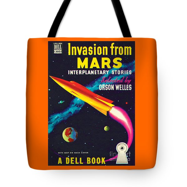 Tote Bag featuring the painting Invasion From Mars by Malcolm Smith