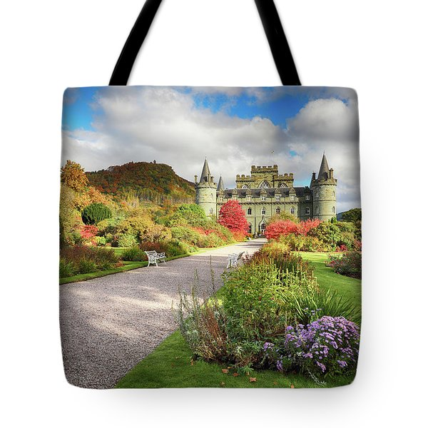Inveraray Castle Garden In Autumn Tote Bag