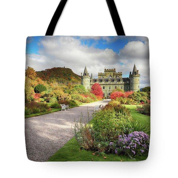 Inveraray Castle Garden In Autumn Tote Bag