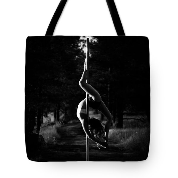 Inverted Pole Dance In Forest Tote Bag