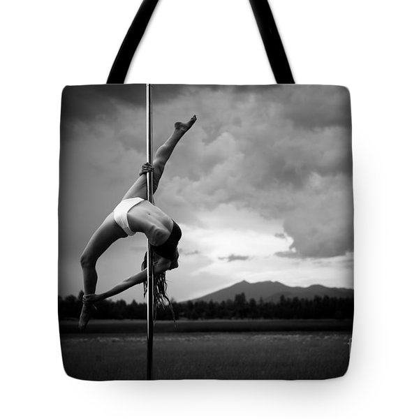 Inverted Splits Pole Dance Tote Bag