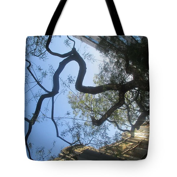 Inverted Tree Over Lisbon Tote Bag