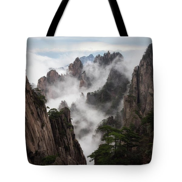 Invisible Hands Painting The Mountains. Tote Bag