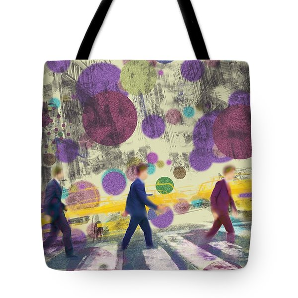 Invisible Men With Balloons Tote Bag