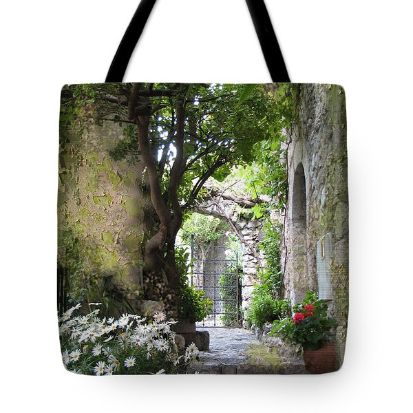 Inviting Courtyard Tote Bag