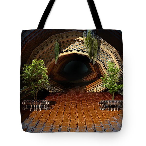 Inviting Dark Tunnel Tote Bag