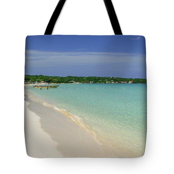 Seven Mile Beach, Negril Tote Bag