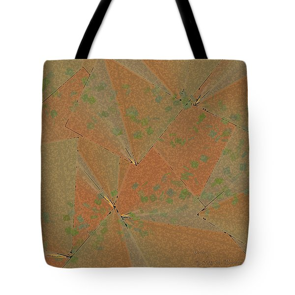 Tote Bag featuring the digital art Inw_20a6150 Savory by Kateri Starczewski
