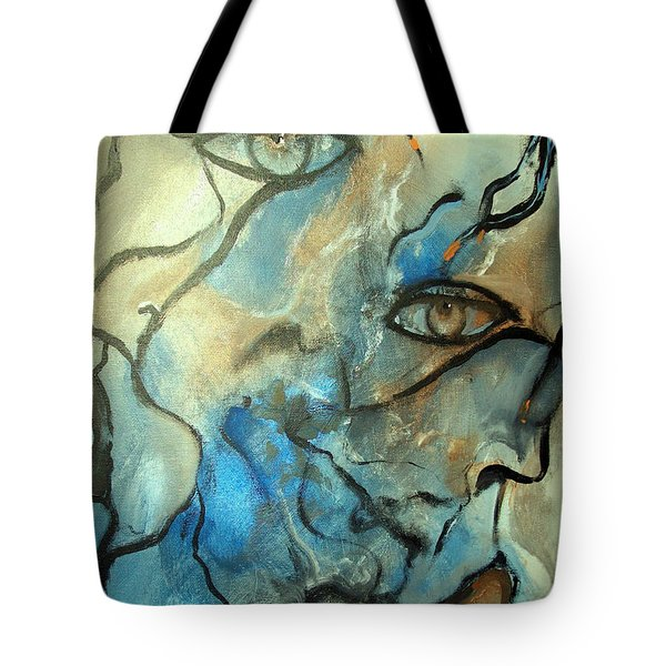Tote Bag featuring the painting Inward Vision by Raymond Doward