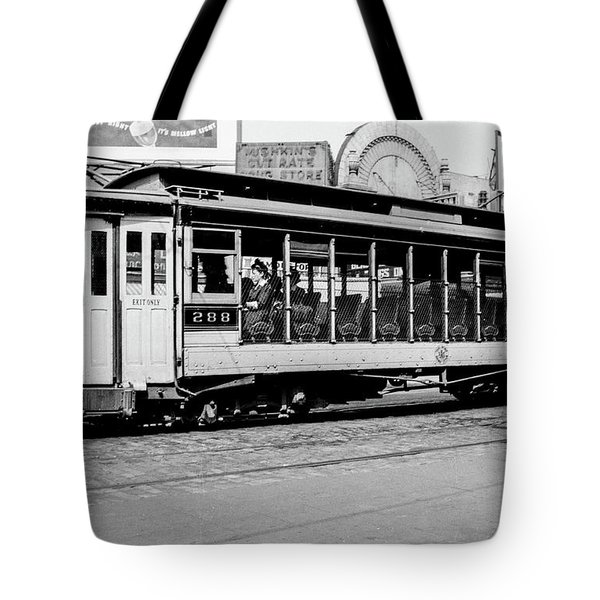 Tote Bag featuring the photograph Inwood Crosstown Trolley  by Cole Thompson