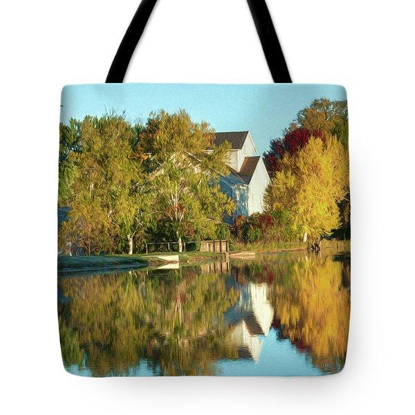 Iola Mill Fall View Tote Bag