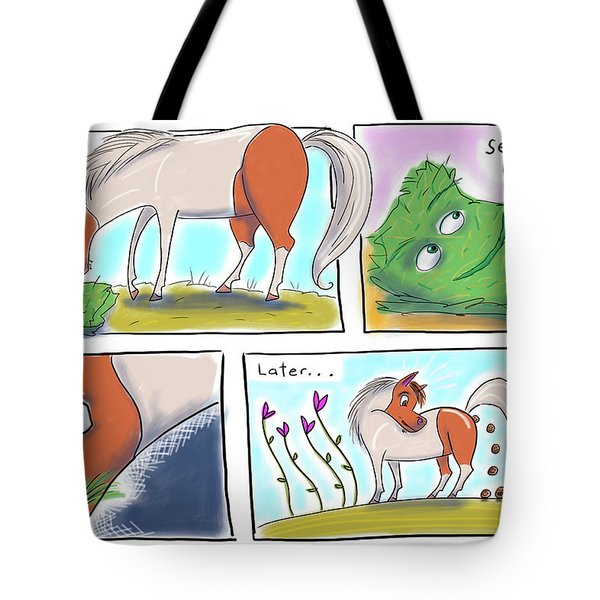 Tote Bag featuring the digital art Iota And Alfie by Marti McGinnis