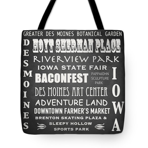 Iowa Famous Landmarks Tote Bag